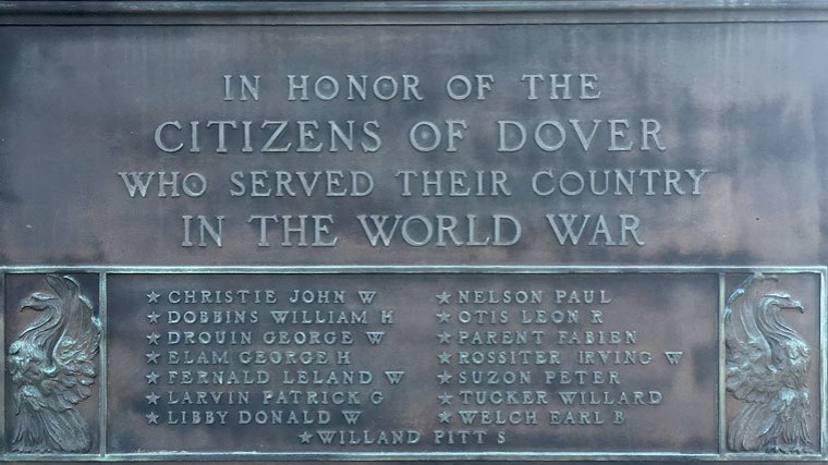Transcription of Dover's World War One Memorial