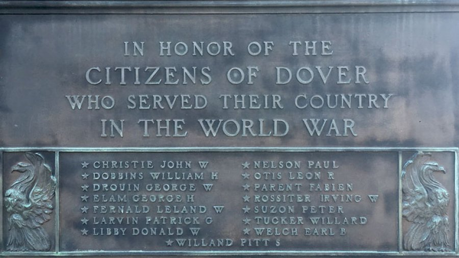 Transcription of Dover's World War One Memorial