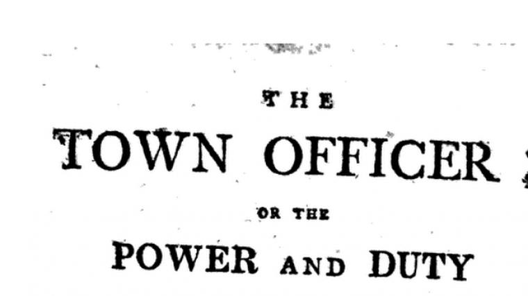 Book Review:  The Town Officer (Samuel Freeman)