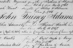 Happy Birthday John Quincy Adams (the dangers of transcriptions)
